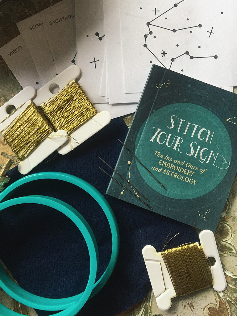 Zodiac Embroidery Kit - Stitch Your Sign