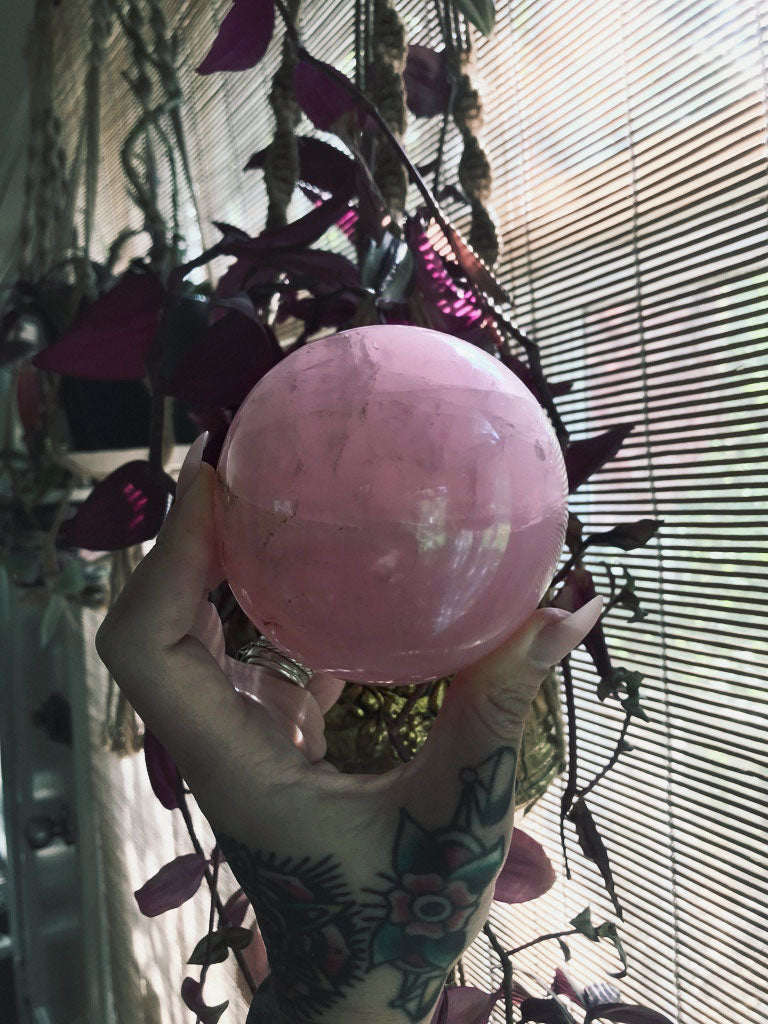 Rose Quartz Sphere S