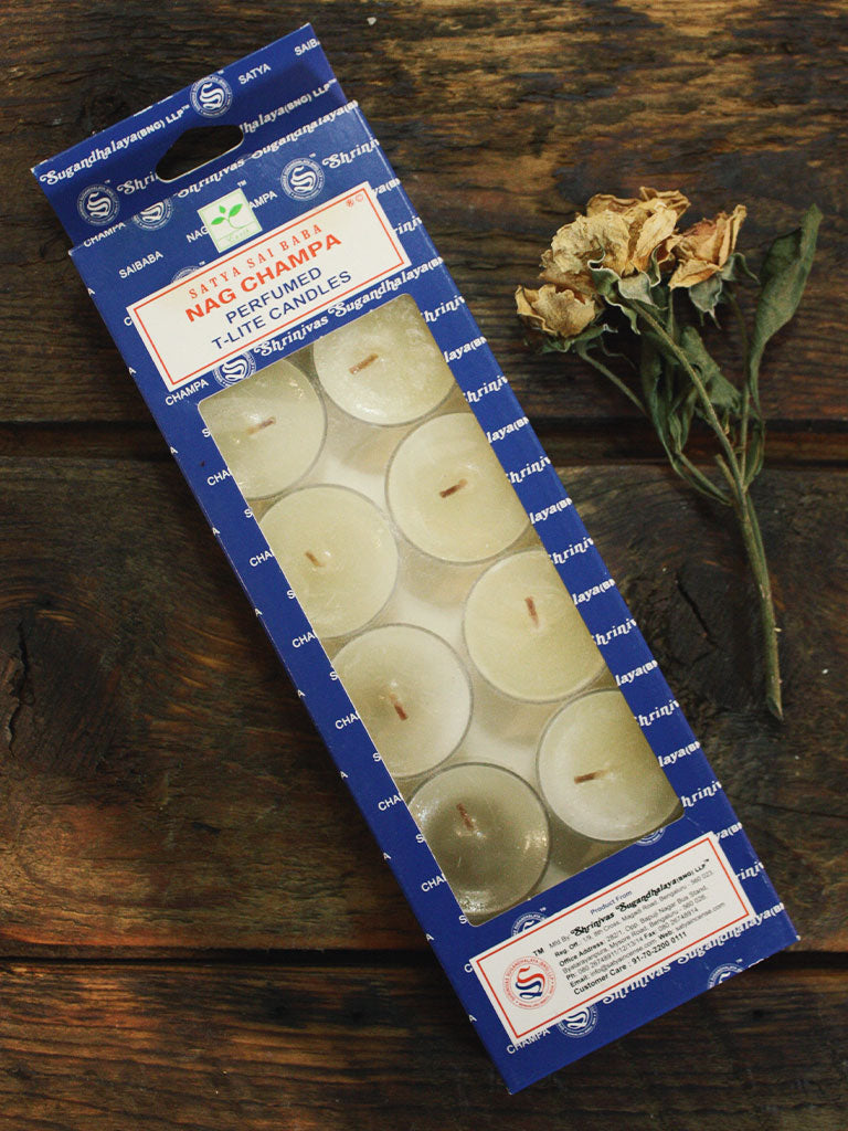 Satya Nag Champa Tea Light Candles