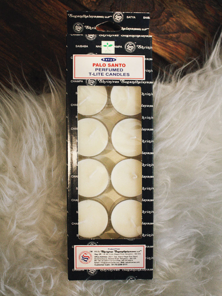 Satya Palo Santo Tea Light Candles