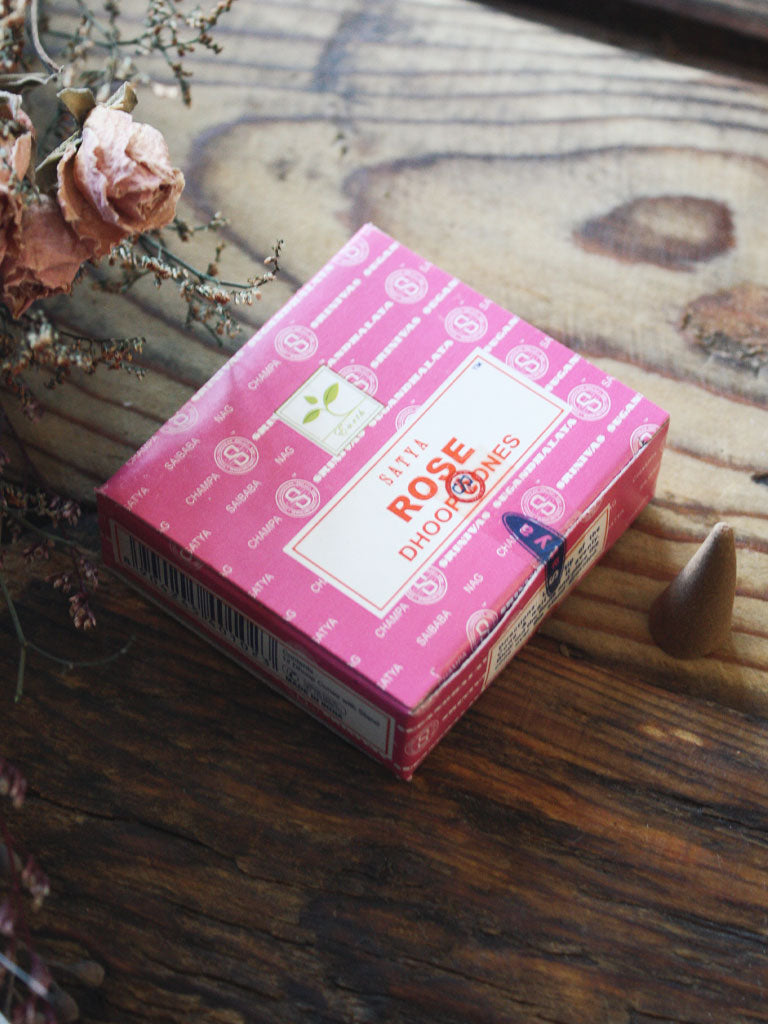 Satya Rose Incense Cones