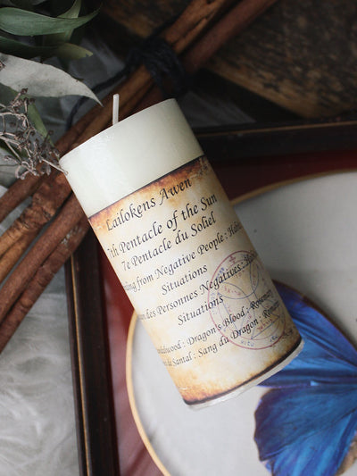 Seventh Pentacle of the Sun Spell Candle