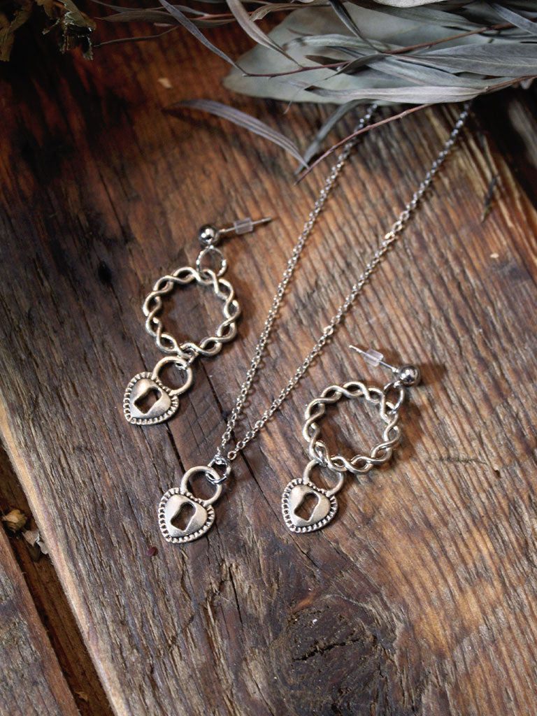 Silver Earrings + Necklace Sets