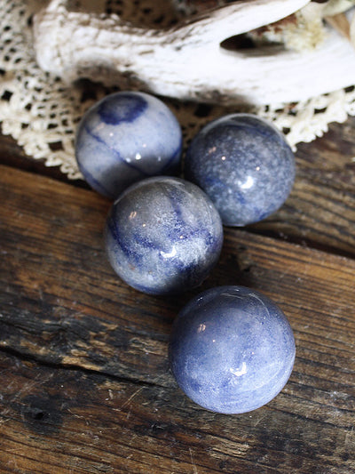Small Blue Quartz Spheres
