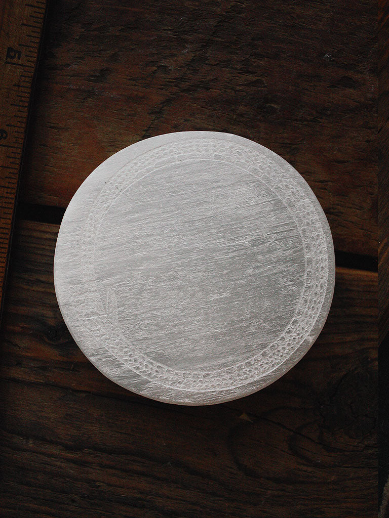Engraved Selenite Charging Plates