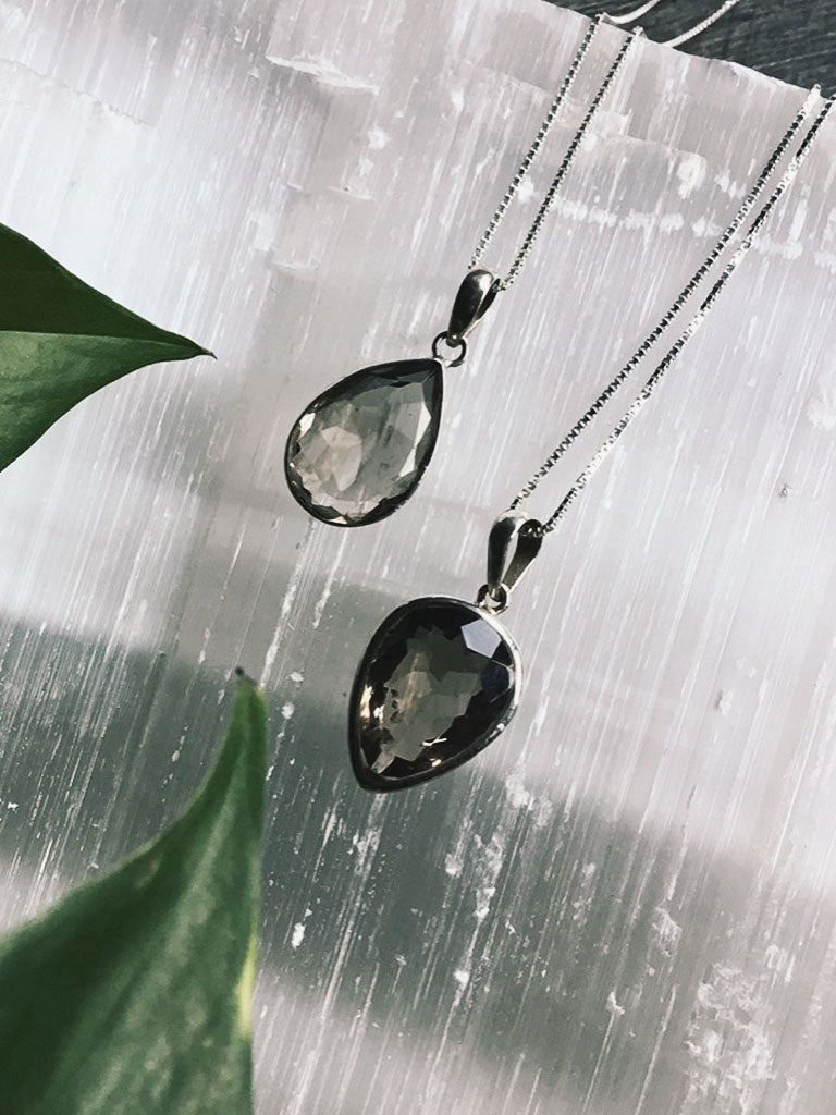 Smokey Quartz Sterling Silver Necklaces