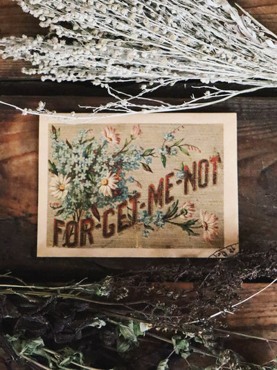 Forget Me Not Wood Folding Card