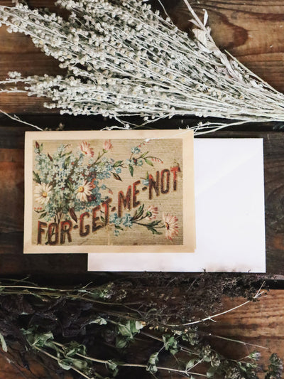 Forget Me Not Wood Folding Card 3