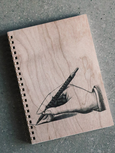 Ink Wood Spiral Bound Notebook