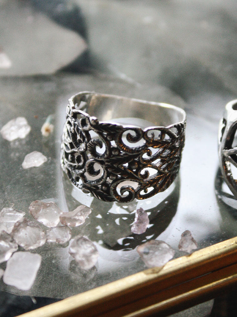Sterling Silver Filigree Victorian Rings