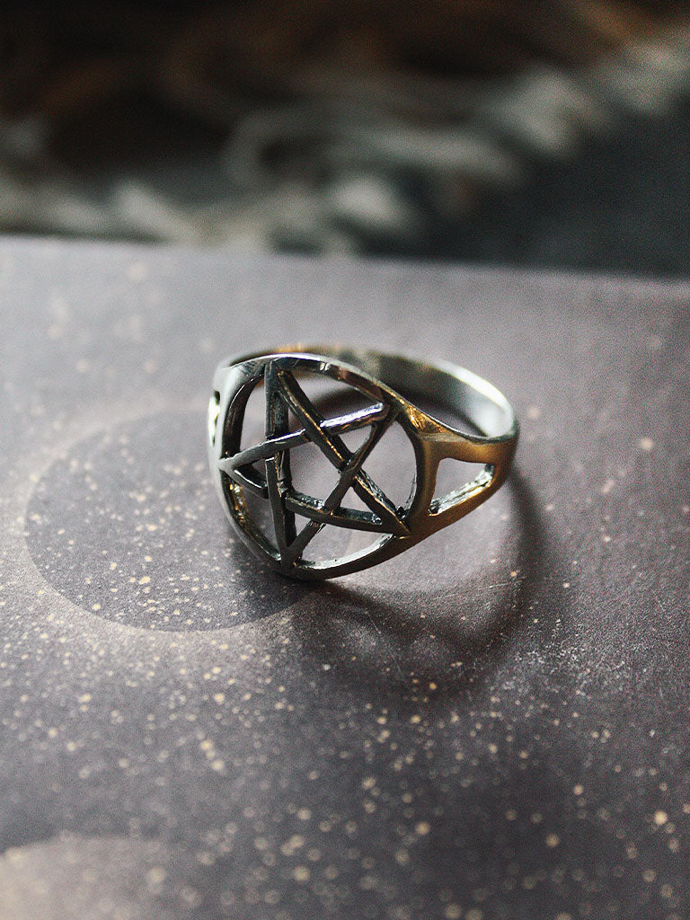 Sterling Silver Pentacle Rings