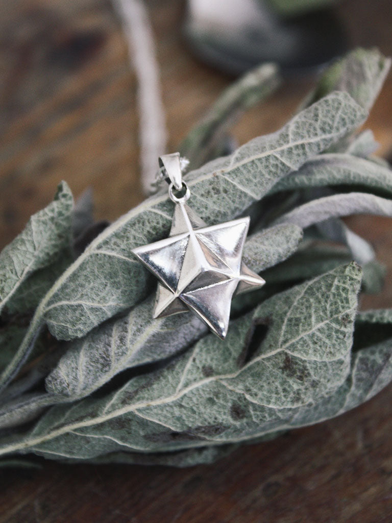Sterling Silver Tetrahedron Necklace