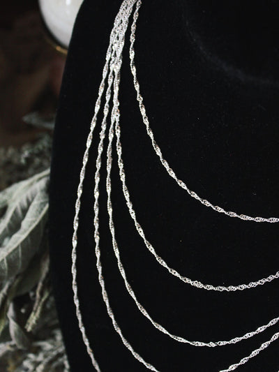 Sterling Silver Twisted Chains