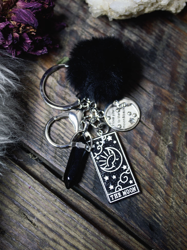 Sweetest Love Moon Tarot Key Chains