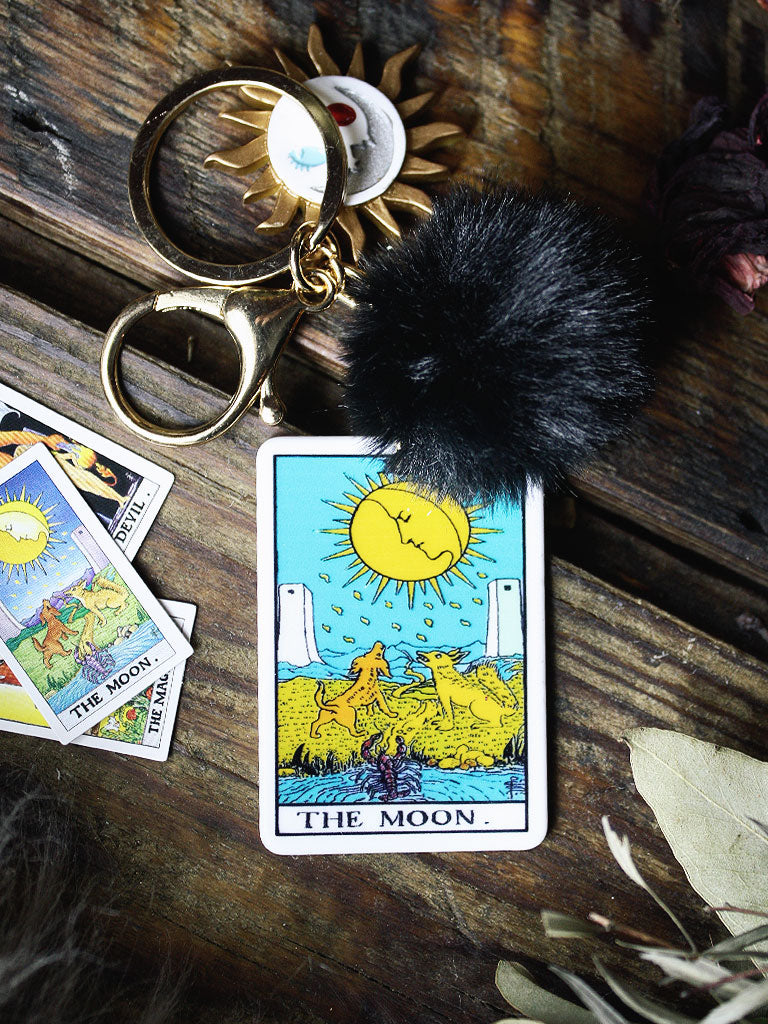 The Moon Tarot Card Key Chains
