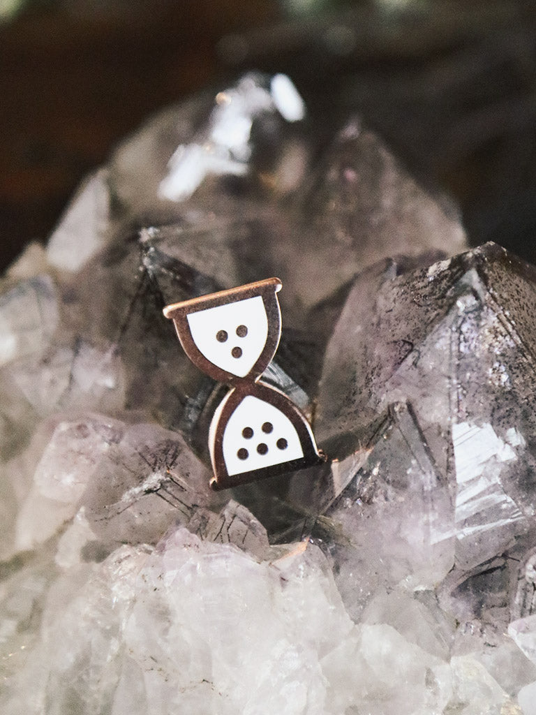 Hourglass Enamel Pin