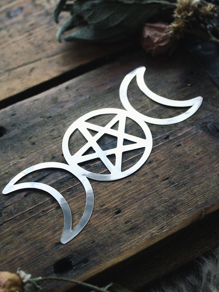 Triple Goddess Metal Sticker