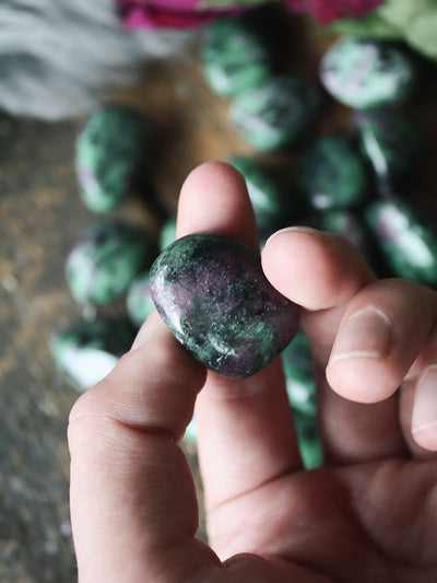 Tumbled Ruby in Zoisite