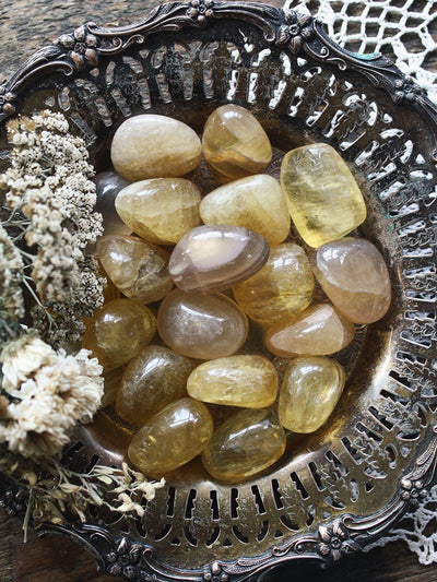 Tumbled Yellow Fluorite