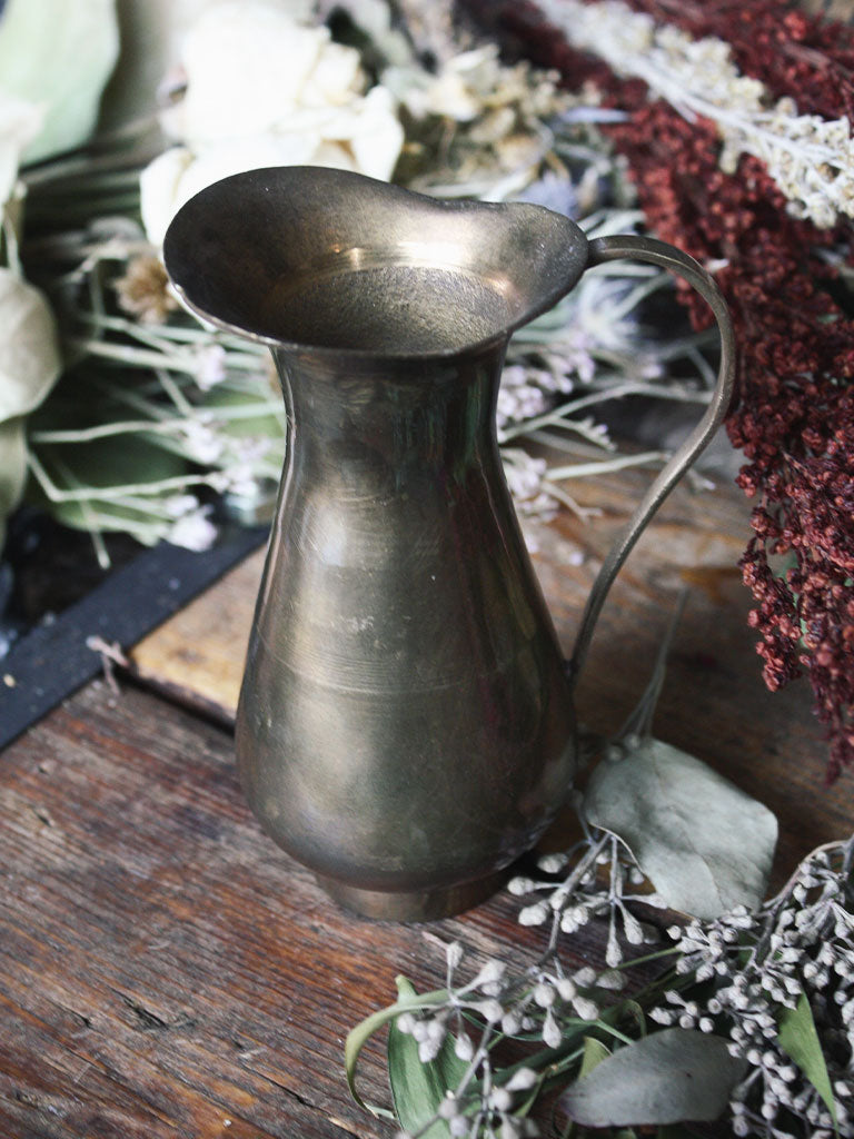 Oxidized Brass Pitcher - V176