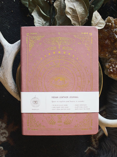 Vegan Leather Journal by Magic of I - Coral Rose