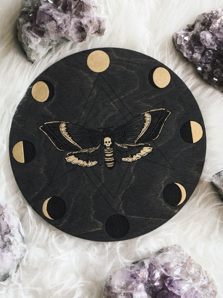 Moon Phases Death Moth Crystal Grids