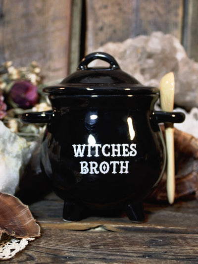 Witches Broth Cauldron Bowl + Spoon Set