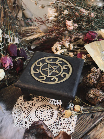 Wooden Pentacle Altar Table