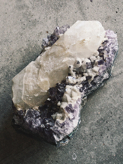 Amethyst with Calcite Cluster - Rite of Ritual