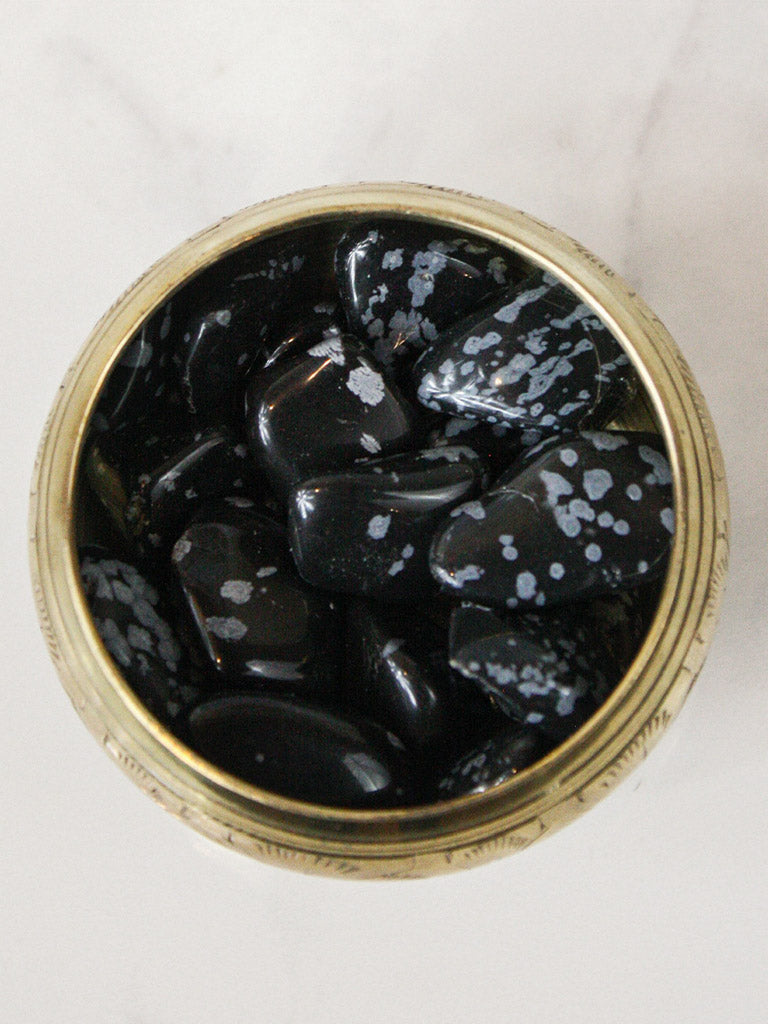 crystals tumbled snowflake obsidian 1