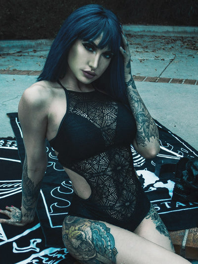 killstar occultus lace bathing suit 1