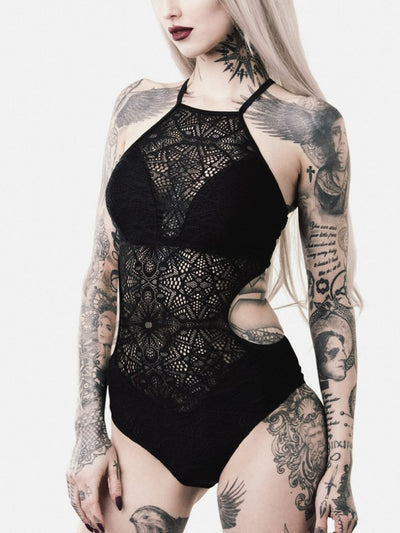 killstar occultus lace bathing suit 2