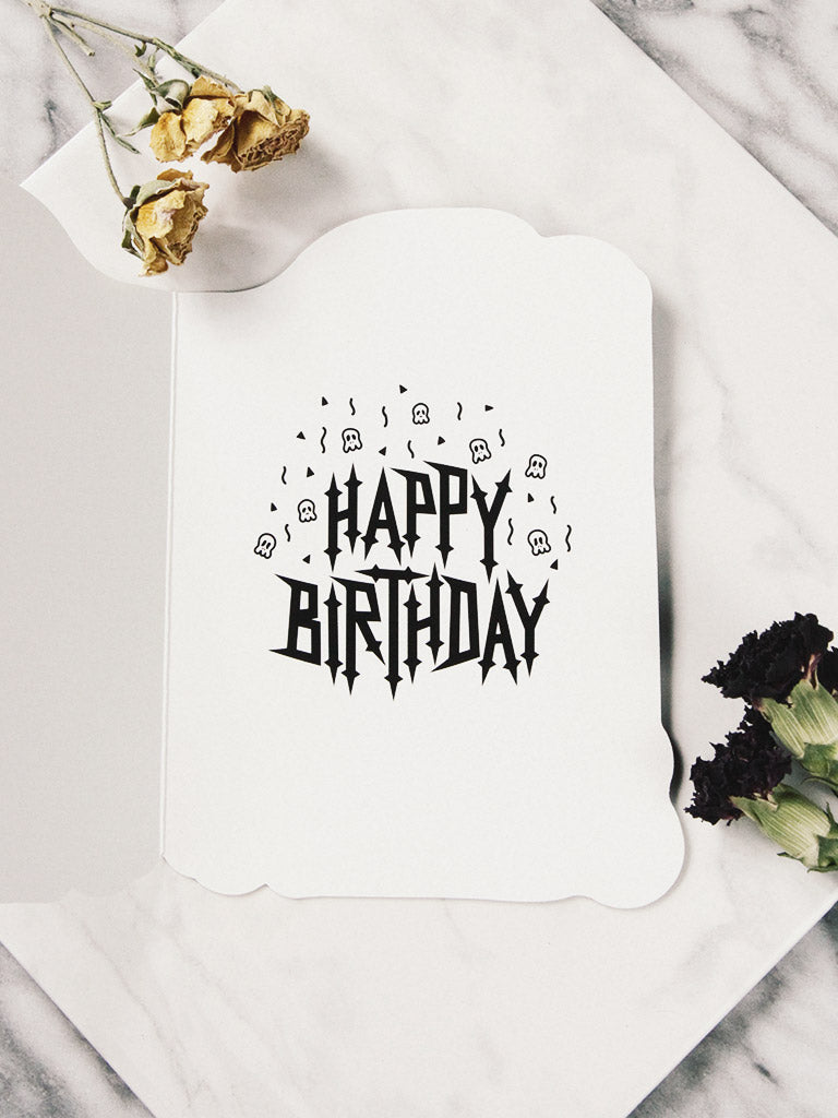 Tombstone Birthday Card