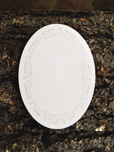 Astrology Oval Card - Rite of Ritual