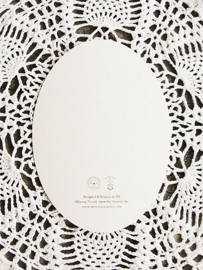 open sea dark florals oval card 3