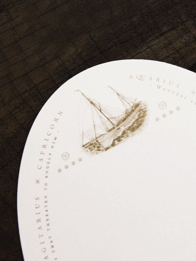 open sea sailing oval card 1