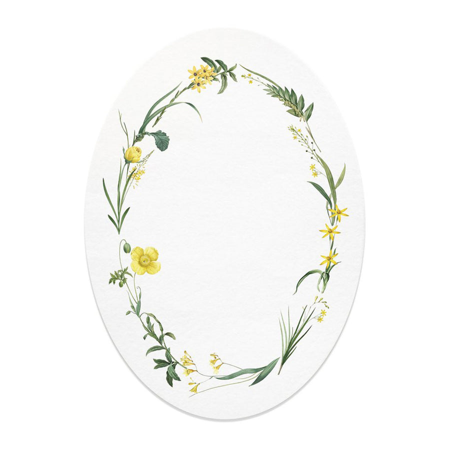 open sea yellow floral oval card 1