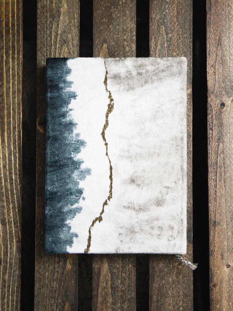 printfresh geode dip dye medium slim velvet journal 1