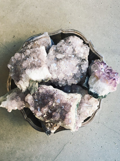 Raw Amethyst Druzy Pieces