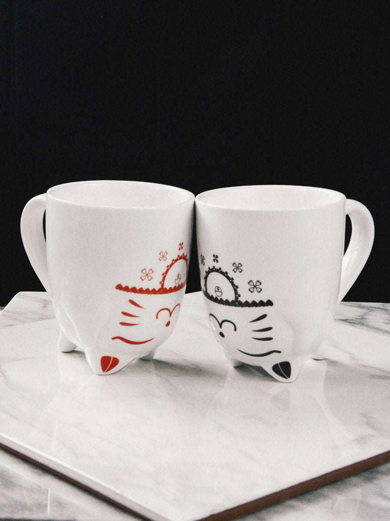 rite of ritual lucky cat mug set 1