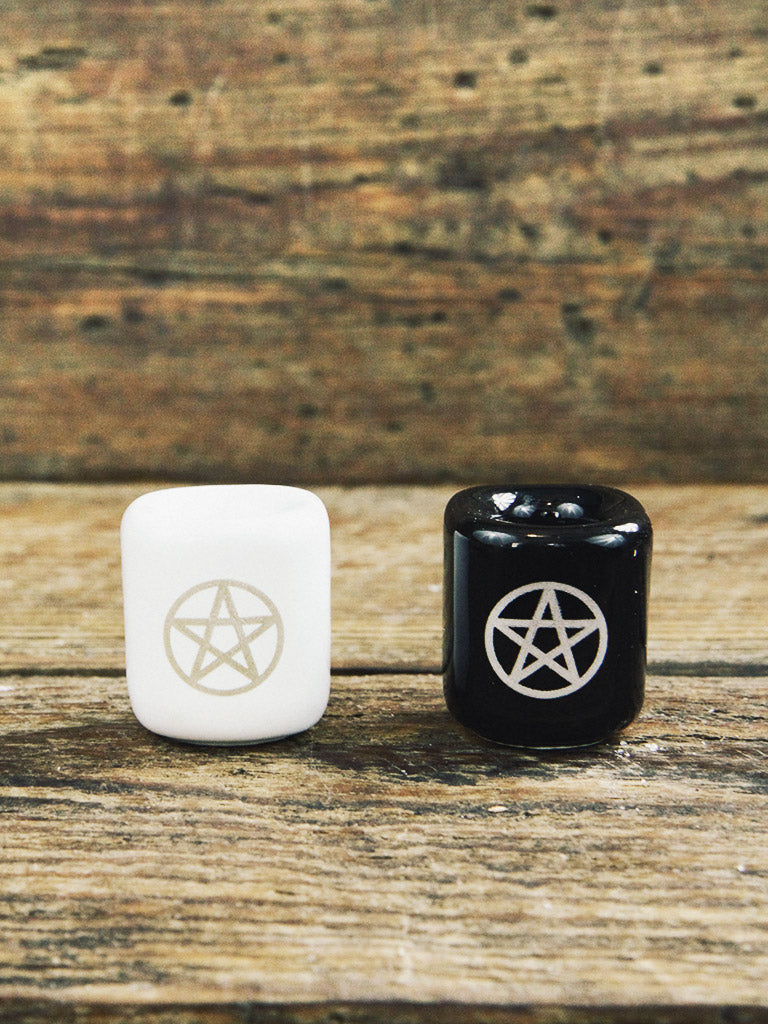 Pentacle Chime Candle Holders