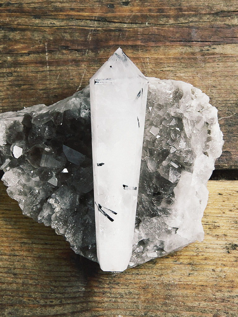Tourmaline in Quartz Wand Pipes