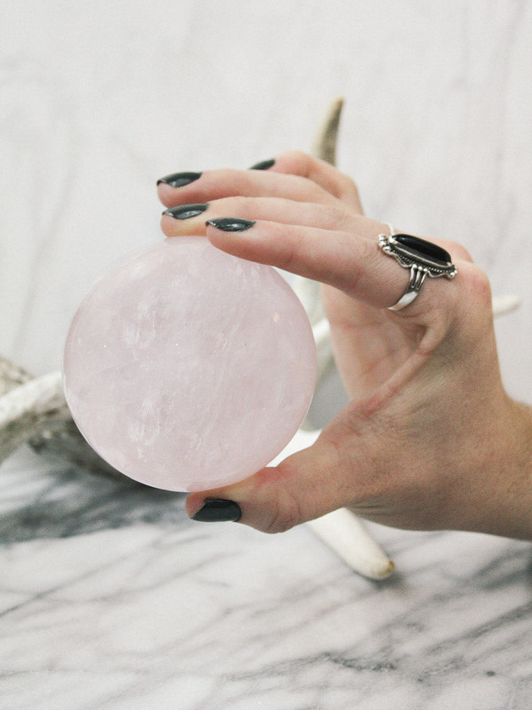 Rose Quartz Sphere E