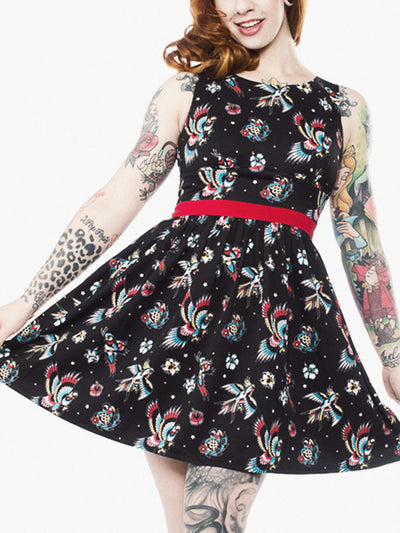 sourpuss birds of paradise shift dress 2