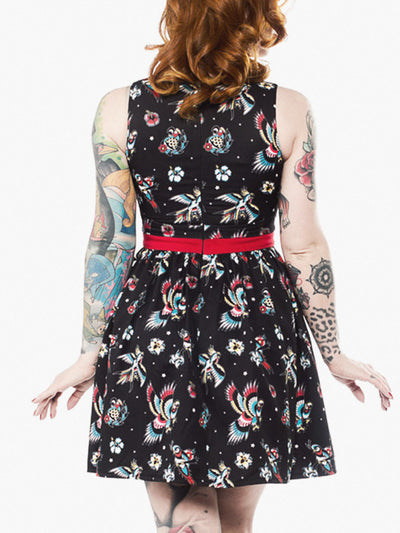 sourpuss birds of paradise shift dress 3