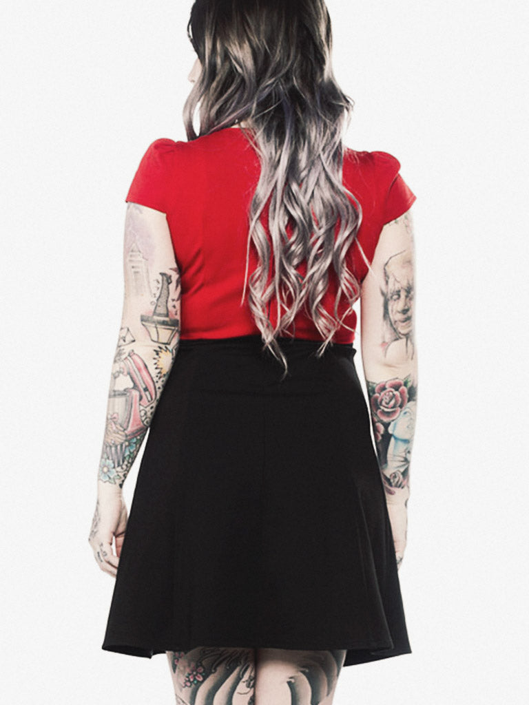Roundabout Dress in Red/Black