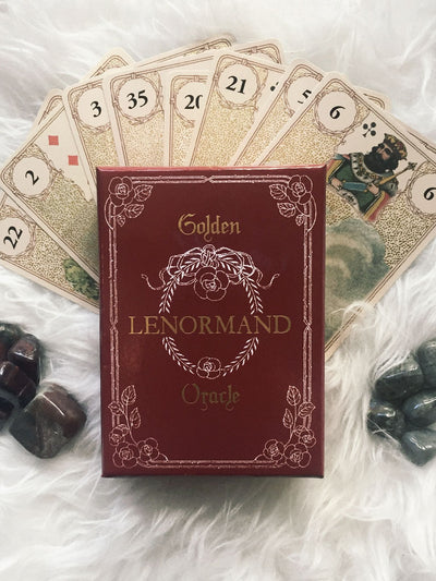 Golden Lenormand Oracle Cards