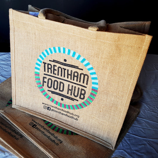 Trentham Food Hub Jute Market Bag