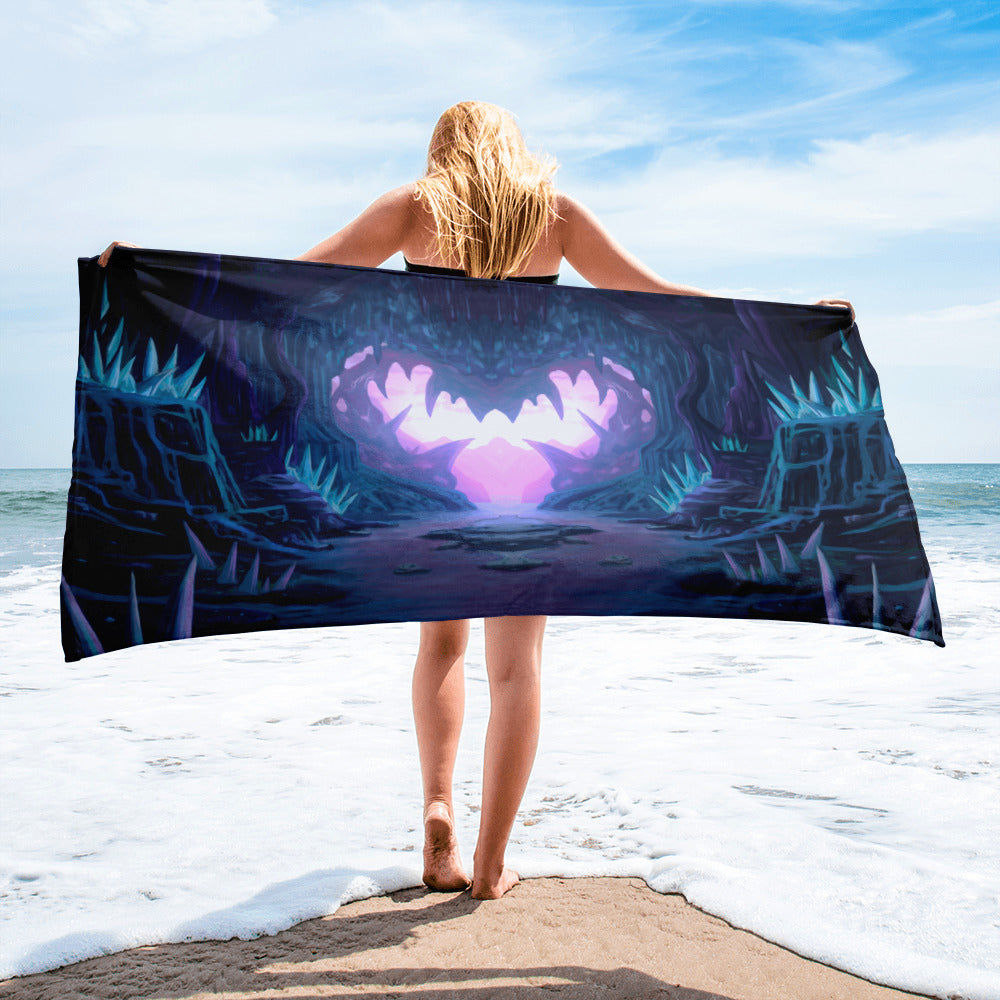 Crystal Heart Cave Towel