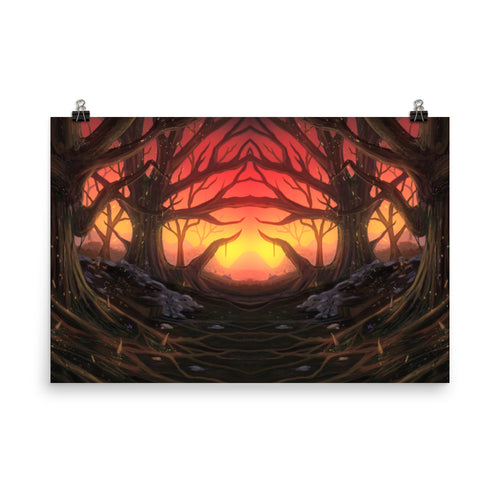 Sunset Valley Poster